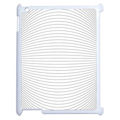 Pattern Background Monochrome Apple Ipad 2 Case (white)