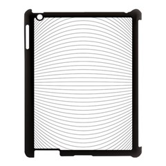 Pattern Background Monochrome Apple Ipad 3/4 Case (black) by BangZart