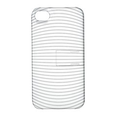 Pattern Background Monochrome Apple Iphone 4/4s Hardshell Case With Stand
