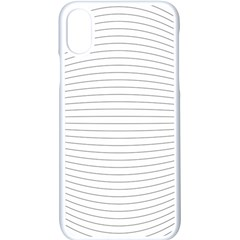 Pattern Background Monochrome Apple Iphone X Seamless Case (white)