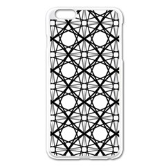 Line Stripe Curves Curved Seamless Apple Iphone 6 Plus/6s Plus Enamel White Case