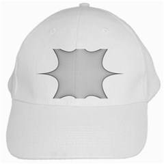 Star Grid Curved Curved Star Woven White Cap