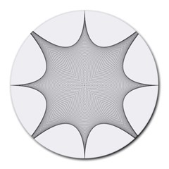 Star Grid Curved Curved Star Woven Round Mousepads by BangZart
