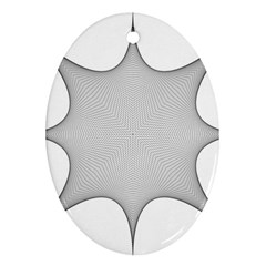 Star Grid Curved Curved Star Woven Ornament (oval) by BangZart