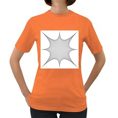 Star Grid Curved Curved Star Woven Women s Dark T Shirt