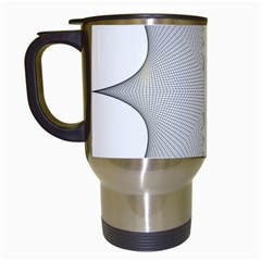 Star Grid Curved Curved Star Woven Travel Mugs (white)
