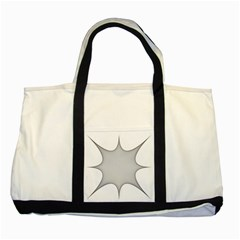 Star Grid Curved Curved Star Woven Two Tone Tote Bag