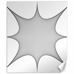 Star Grid Curved Curved Star Woven Canvas 8  X 10