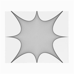 Star Grid Curved Curved Star Woven Small Glasses Cloth (2 Side) by BangZart