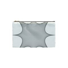 Star Grid Curved Curved Star Woven Cosmetic Bag (small)