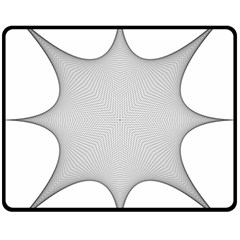 Star Grid Curved Curved Star Woven Fleece Blanket (medium)  by BangZart