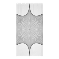 Star Grid Curved Curved Star Woven Shower Curtain 36  X 72  (stall)  by BangZart