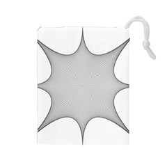 Star Grid Curved Curved Star Woven Drawstring Pouches (large)  by BangZart
