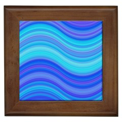 Blue Background Water Design Wave Framed Tiles