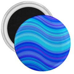Blue Background Water Design Wave 3  Magnets by BangZart