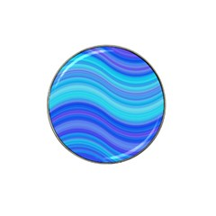 Blue Background Water Design Wave Hat Clip Ball Marker (4 Pack)