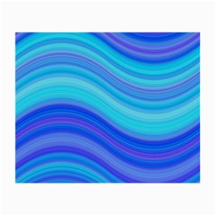 Blue Background Water Design Wave Small Glasses Cloth by BangZart