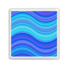 Blue Background Water Design Wave Memory Card Reader (square)