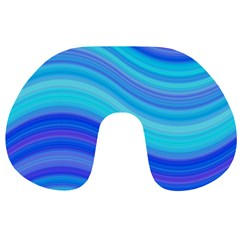 Blue Background Water Design Wave Travel Neck Pillows