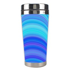 Blue Background Water Design Wave Stainless Steel Travel Tumblers