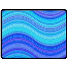 Blue Background Water Design Wave Double Sided Fleece Blanket (large)  by BangZart
