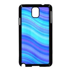 Blue Background Water Design Wave Samsung Galaxy Note 3 Neo Hardshell Case (black)