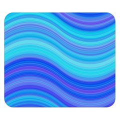 Blue Background Water Design Wave Double Sided Flano Blanket (small)  by BangZart