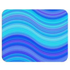 Blue Background Water Design Wave Double Sided Flano Blanket (medium)
