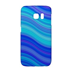 Blue Background Water Design Wave Galaxy S6 Edge by BangZart