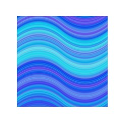 Blue Background Water Design Wave Small Satin Scarf (square)
