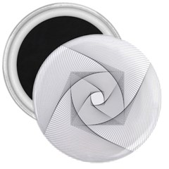 Rotation Rotated Spiral Swirl 3  Magnets