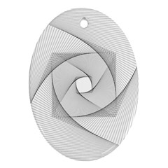 Rotation Rotated Spiral Swirl Ornament (oval)