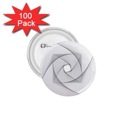 Rotation Rotated Spiral Swirl 1 75  Buttons (100 Pack)