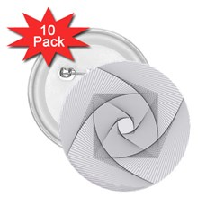 Rotation Rotated Spiral Swirl 2 25  Buttons (10 Pack)