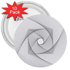 Rotation Rotated Spiral Swirl 3  Buttons (10 Pack)