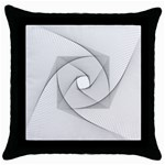 Rotation Rotated Spiral Swirl Throw Pillow Case (Black) Front