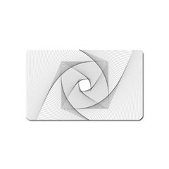 Rotation Rotated Spiral Swirl Magnet (name Card)
