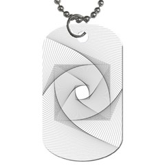 Rotation Rotated Spiral Swirl Dog Tag (one Side)