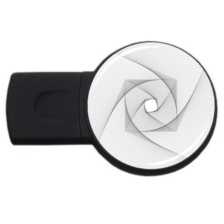 Rotation Rotated Spiral Swirl USB Flash Drive Round (2 GB)