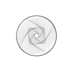 Rotation Rotated Spiral Swirl Hat Clip Ball Marker