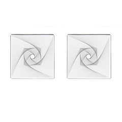 Rotation Rotated Spiral Swirl Cufflinks (square)