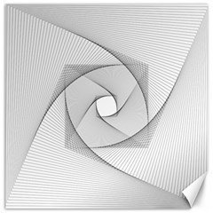 Rotation Rotated Spiral Swirl Canvas 20  X 20   by BangZart