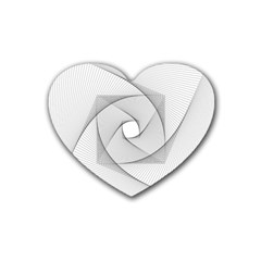 Rotation Rotated Spiral Swirl Rubber Coaster (heart)