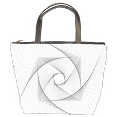 Rotation Rotated Spiral Swirl Bucket Bags