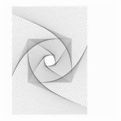 Rotation Rotated Spiral Swirl Small Garden Flag (two Sides)