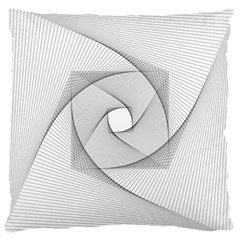 Rotation Rotated Spiral Swirl Large Cushion Case (two Sides) by BangZart