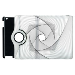 Rotation Rotated Spiral Swirl Apple Ipad 3/4 Flip 360 Case by BangZart