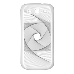 Rotation Rotated Spiral Swirl Samsung Galaxy S3 Back Case (white)