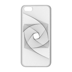 Rotation Rotated Spiral Swirl Apple Iphone 5c Seamless Case (white)