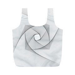 Rotation Rotated Spiral Swirl Full Print Recycle Bags (m)